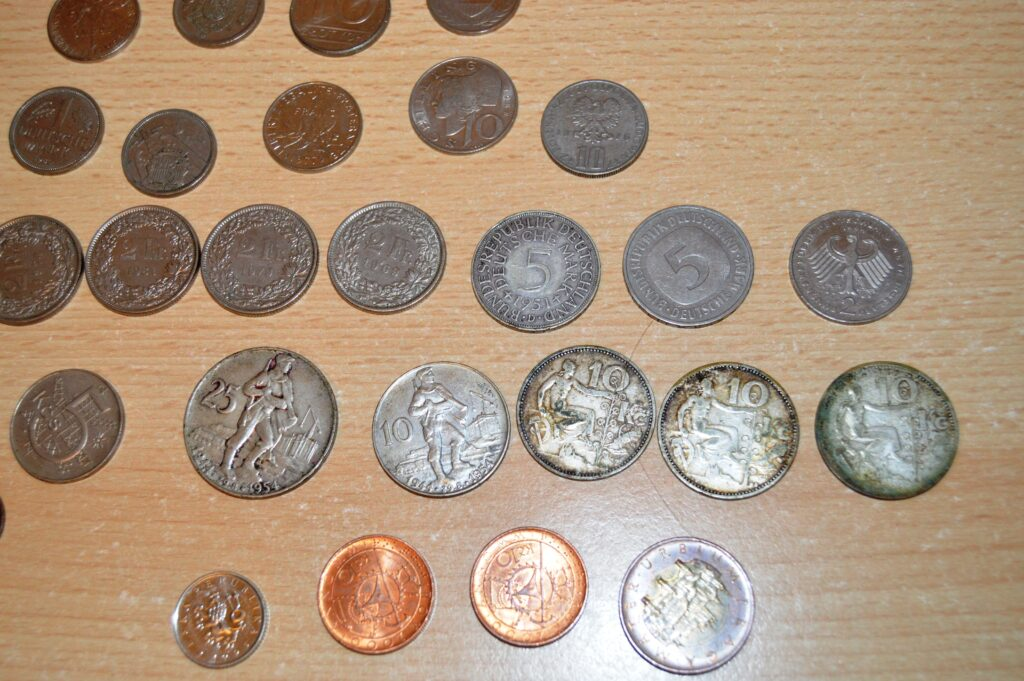 stříbrné mince a naše oběživo